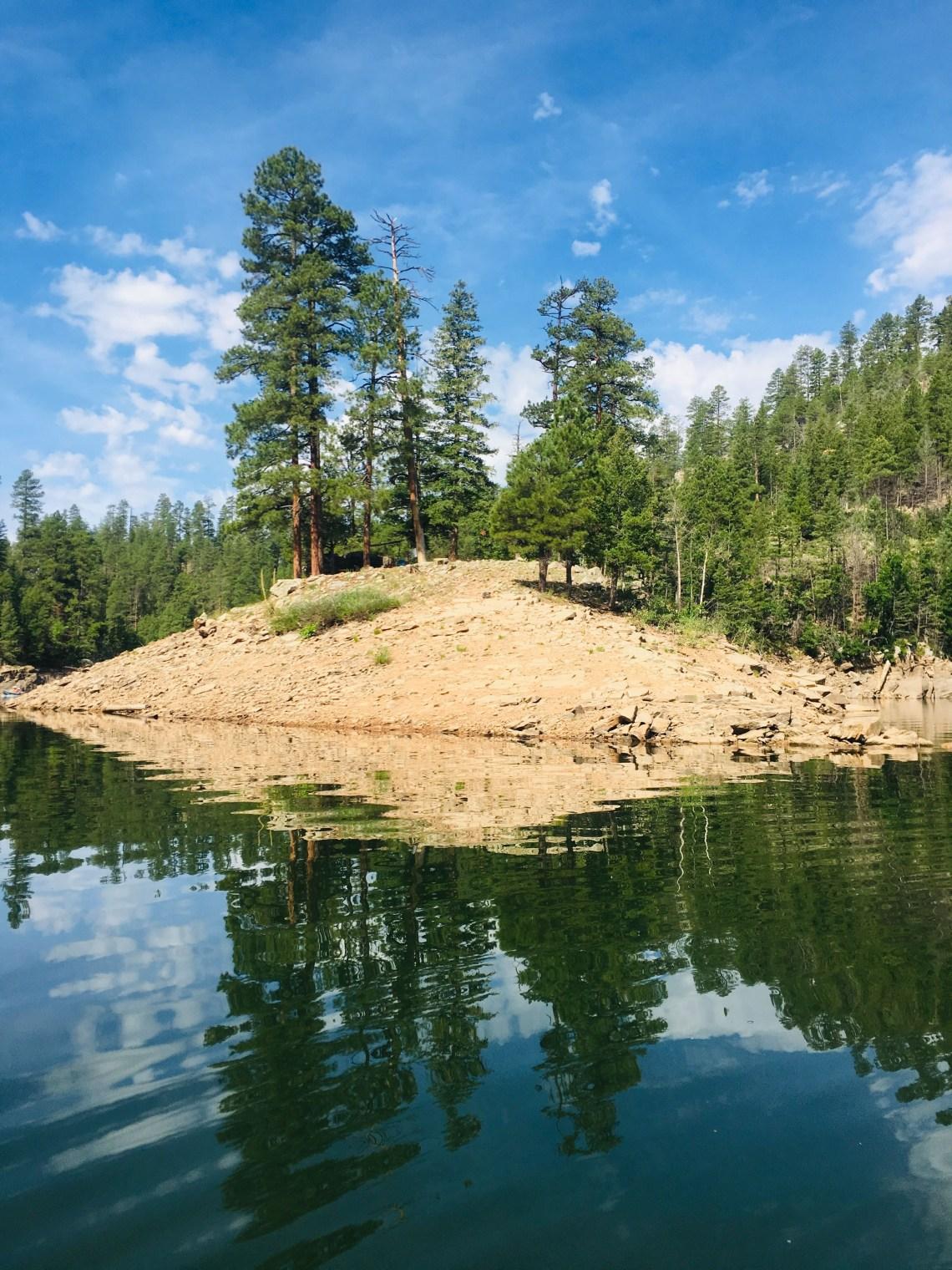 Primitive campsite at Blue Ridge Reservoir