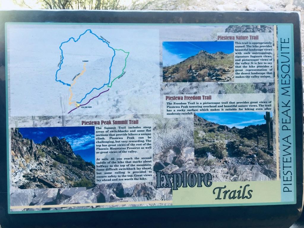 Piestewa Peak interpretive sign
