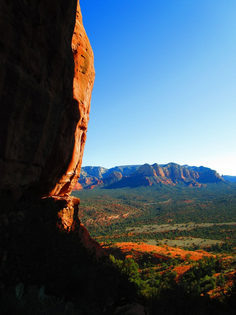 View of Sedona valley from Cathedral Rock