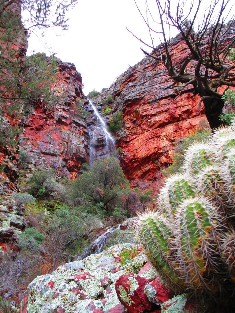 Large fall along Barnhardt Trail near Payson, AZ