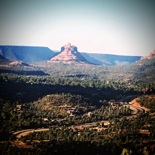 Bell Rock viewed from Airport Mesa Trail in Sedona