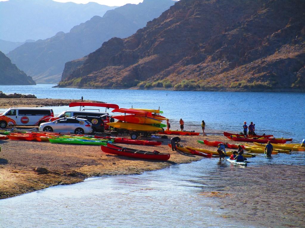 Willow Beach kayak launch site