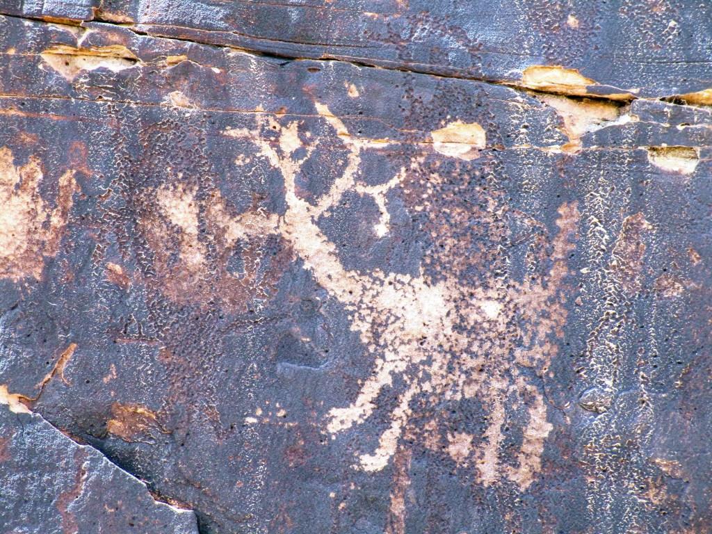 Deer petroglyph at Rock Art Ranch