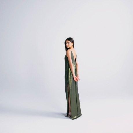 Look 24 - Cape over slip dress