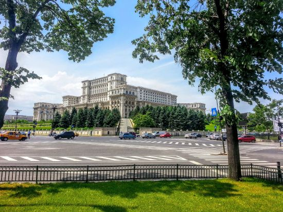 Drive around Parliament Palace - Bucharest private car tour | Romania highlights