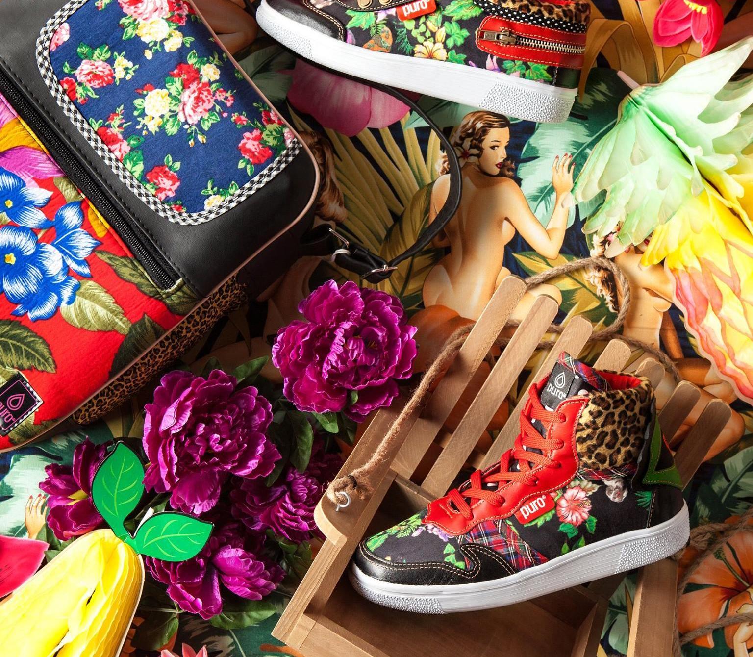 Zapatillas y bolsos Puro. Foto