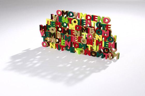 Foto de un diseno con pano lenci de Andrea Cavagnaro Mil hojas Movimiento