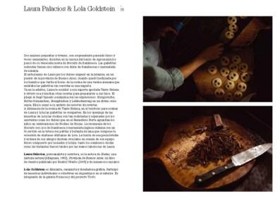 Páginas interiores del libro con la compañía de Laura Palacios y Lola Goldstein