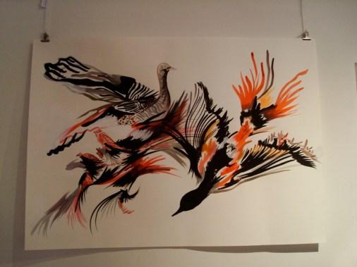 Obra de Marisel Nowacki en la muestra de Número A en SAPO