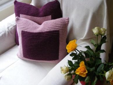 Fundas para almohadones en combinación de colores