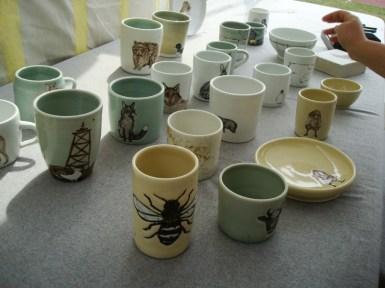 Más cerámica con bichitos