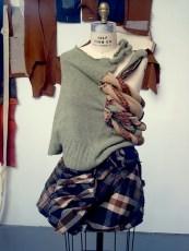 Diseño de un estudiante de moda en una vidriera de Chicago