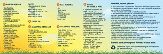 Tríptico del Festival Aire - Lado B. Imagen.
