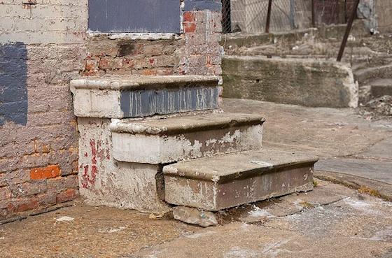 Junkie steps. Foto.