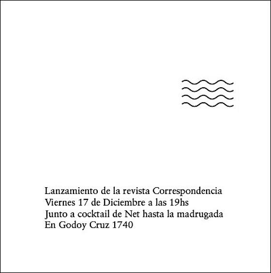 Correspondencia magazine launch flyer. Image