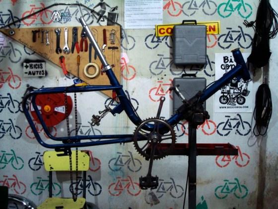 Un cuadro de bici de muestra. Foto.