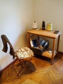 Muebles vintage en el showroom