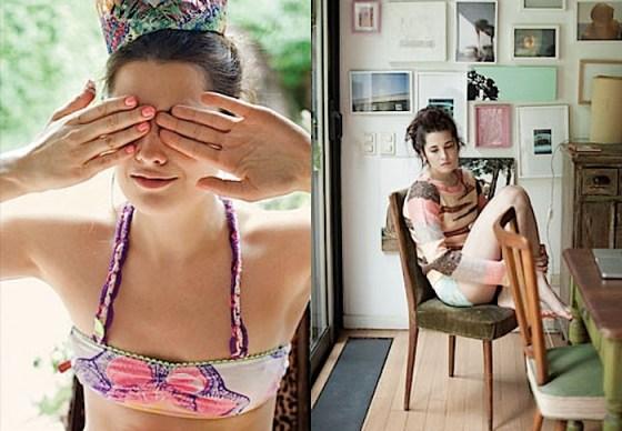 Ropa interior y sweater - Juana de Arco - Moda invierno 2011. Foto.