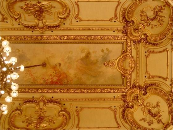 Detalle del techo del Salón Dorado. Foto.
