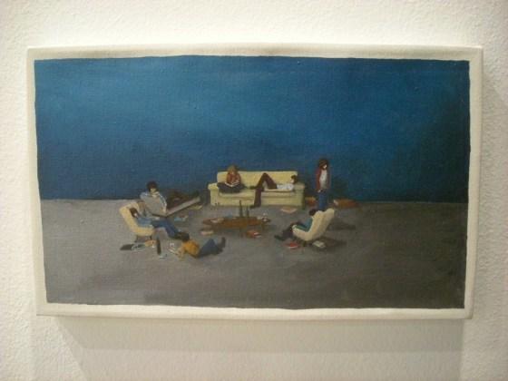 Cuadro de Jeanne Jiménez en la galería venezolana Carmen Araujo. Foto.