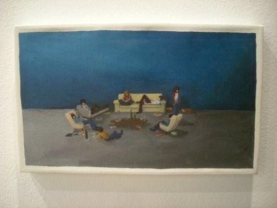 Cuadro de Jeanne Jiménez en la galería venezolana Carmen Araujo