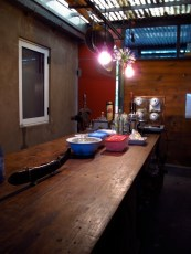 Tablón en la cocina de Guillermina