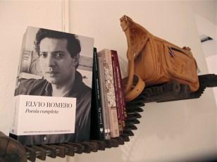 Libros de autores paraguayos y cartera de cuero crudo