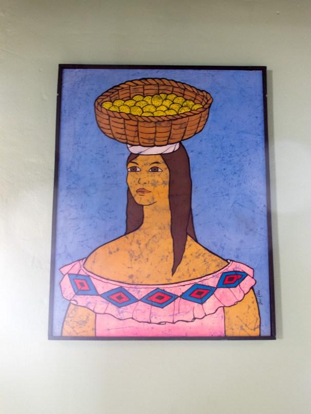 Obra en las paredes del café República en Santa Cruz. Foto