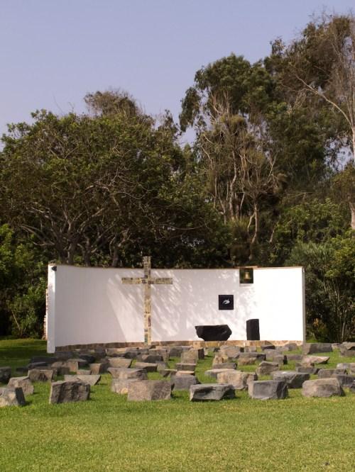 Capilla al aire libre en Las Totoritas, Mala. Foto