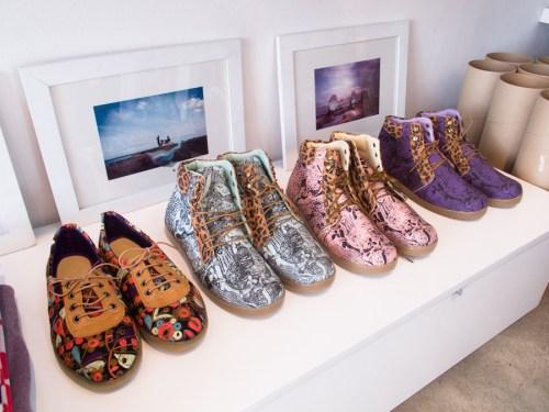 Zapatillas impresas en la tienda Puna de Miraflores. Foto