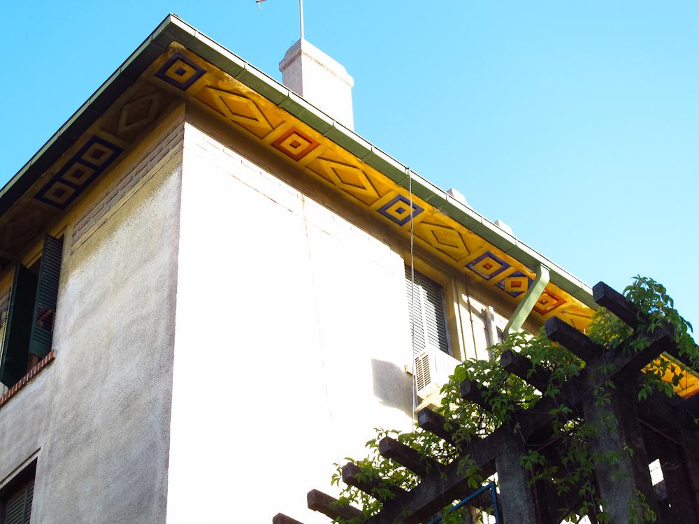 Detalle de techo en Barrio Parque Los Andes de Chacarita. Foto