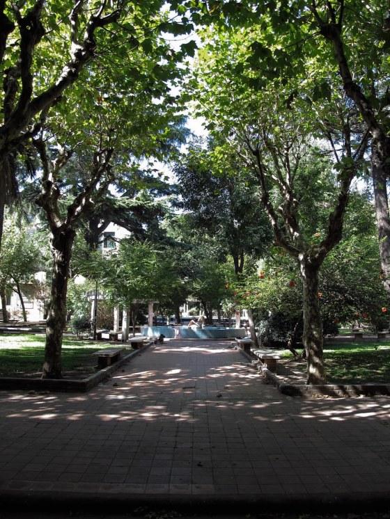 Parque central del barrio Los Andes. Foto