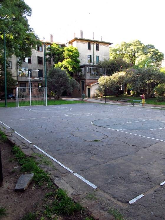 Cancha de fútbol del barrio Los Andes. Foto
