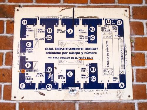Plano de los edificios de Los Andes. Foto