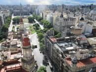 Vista de la Plaza Congreso de Buenos Aires desde el Palacio Barolo