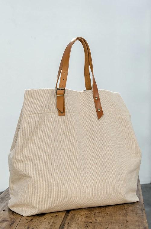Bolso de playa de algodón nativo. ©Cúbreme