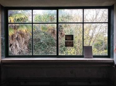 Interior de la Casa del arroyo o Casa del puente de Amancio Williams en 2014. Foto