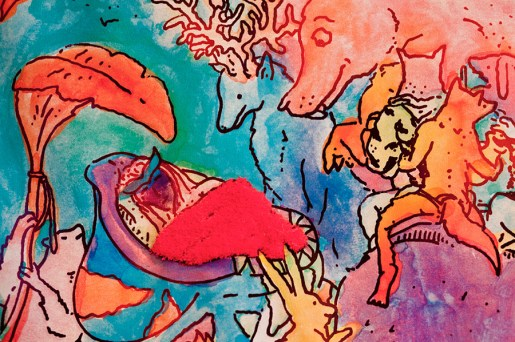 Muestra de Hombre Lobo (Acampante y Coco Nuez) en galería Ruby. Foto