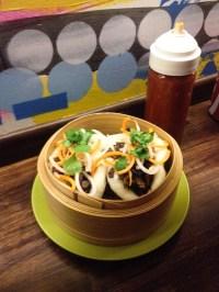 Los buns al vapor (Baos) vegetarianos de Fukuro. Foto