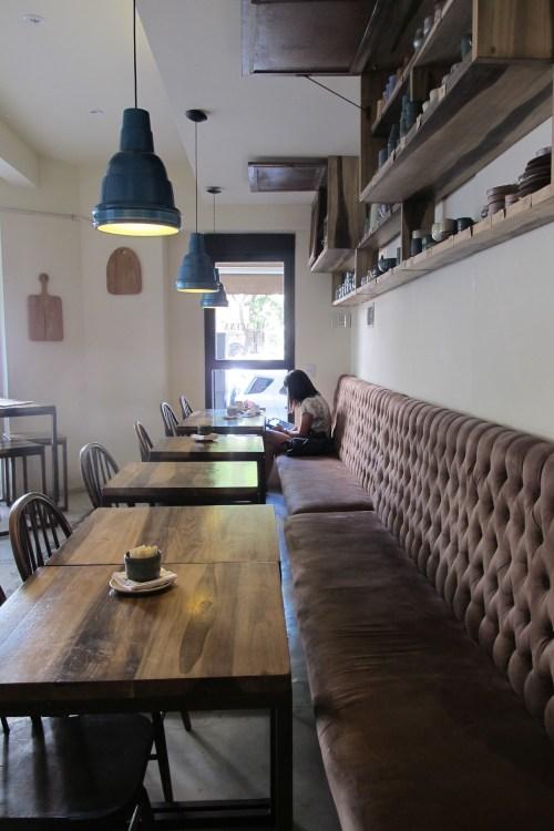 Interiores de La Alacena café y bazar. Foto