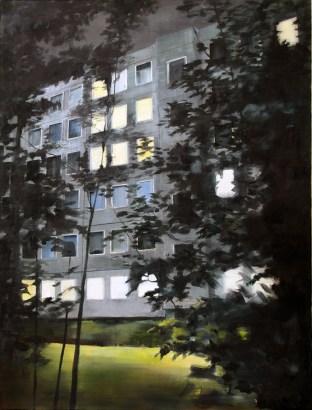 Am Jägerpark 57 I / Öl auf Leinwand / 200 x 140 cm / 2008