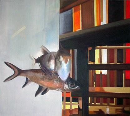 Aquarium I / Öl auf Leinwand / 110 x 100 cm / 2006