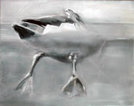 Ente-14 / Öl auf Leinwand / 24 x 30 cm / 2007