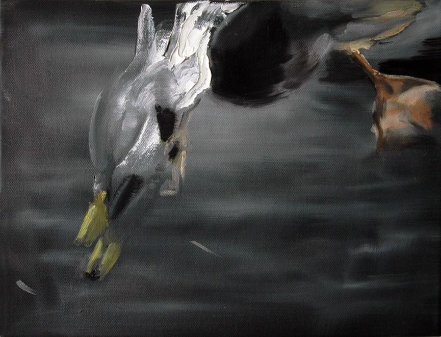 Ente-17 / Öl auf Leinwand / 24 x 30 cm / 2005