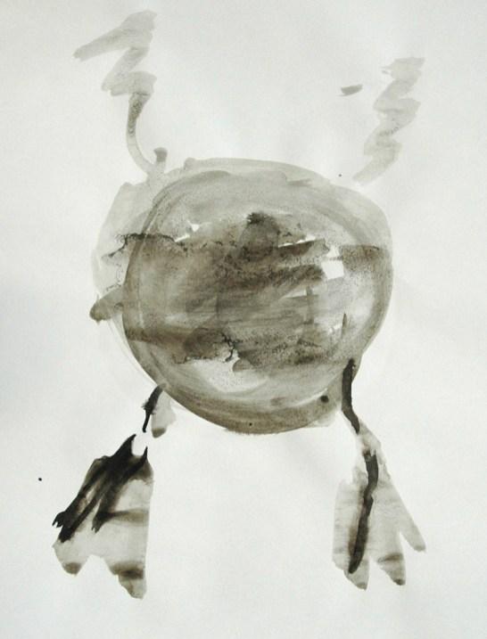 Ente-Tusche2 / Tusche auf Papier / 40 x 30 cm / 2009