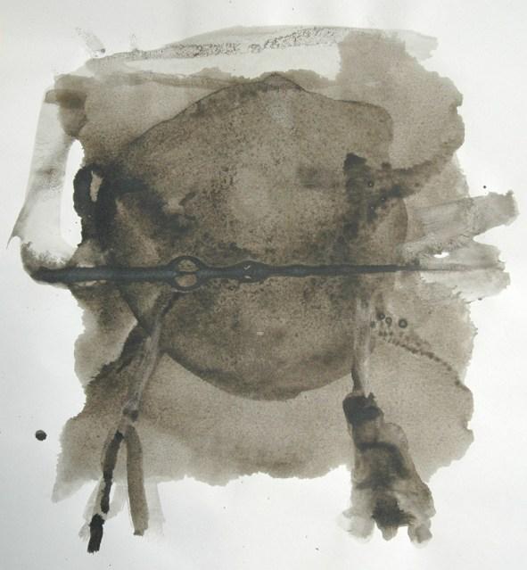 Ente-Tusche 3 / Tusche auf Papier / 40 x 30 cm / 2009