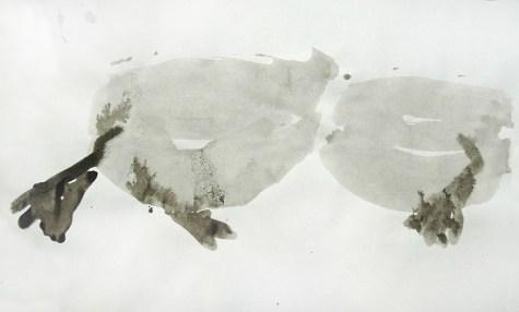 Ente-Tusche 4 / Tusche auf Papier / 30 x 40 cm /2009