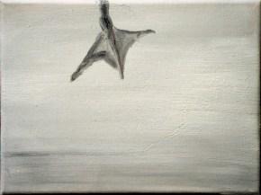 Ente-sw 3 / Öl auf Leinwand / 18 x 24 cm / 2002