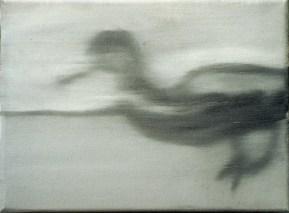 Ente-sw 9 / Öl auf Leinwand / 18 x 24 cm / 2002