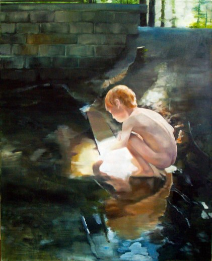 Goldrausch / Öl auf Leinwand / 130 x 110 cm / 2008